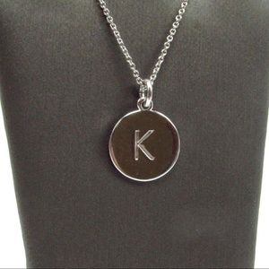 "Kate Spade Silver Tone  ""K"" 20"" Necklace"